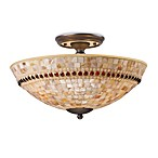 ELK Lighting Roxana 3-Light Semi-Flush Mounted Ceiling Lamp in Aged Bronze