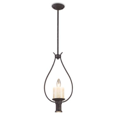 ELK Lighting Cambridge 1+1-Light Pendant in Moonlit Rust