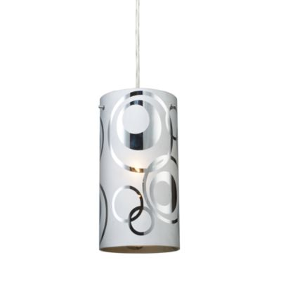 ELK Lighting Chromia 1-Light Pendant in Polished Chrome/Rings