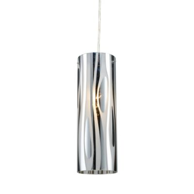 ELK Lighting Chromia 1-Light Pendant in Polished Chrome/Wavy