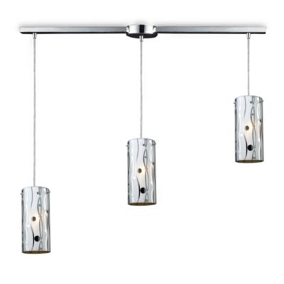ELK Lighting Chromia Lines and Dots 3-Light Linear Pendant in Polished Chrome