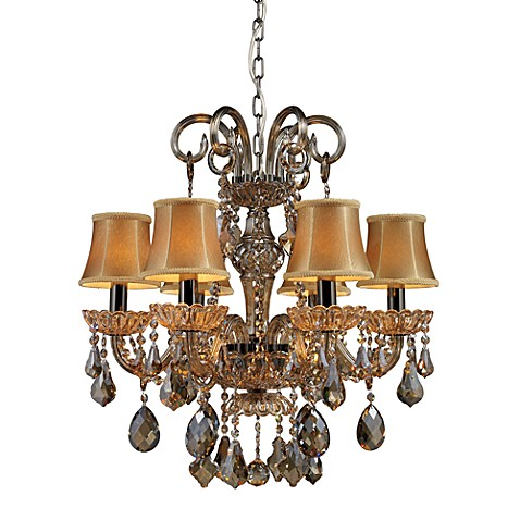 ELK Lighting Julianne 6-Light Chandelier in Black Chrome