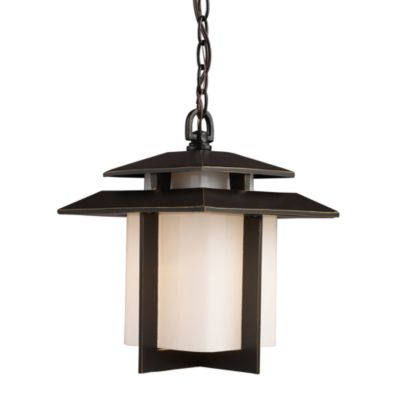 ELK Lighting Kanso 1-Light Outdoor Pendant in Hazelnut Bronze
