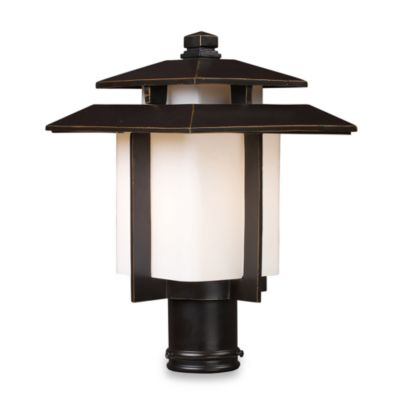 ELK Lighting Kanso 1-Light Outdoor Post Mount in Hazelnut Bronze