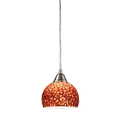 ELK Lighting Cira 1-Light Pendant Satin Nickel/Pebbled Espresso