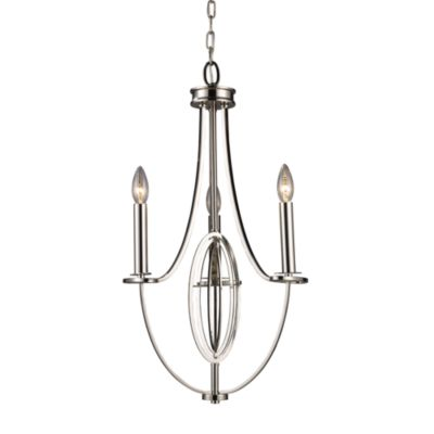 ELK Lighting Dione 3-Light Chandelier in Polished Nickel