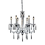 ELK Lighting Duchess 6-Light Chandelier in Polished Chrome