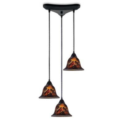 ELK Lighting Firestorm 3-Light Pendant in Dark Rust