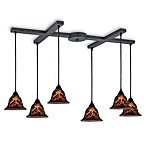 ELK Lighting Firestorm 6-Light Pendant in Dark Rust