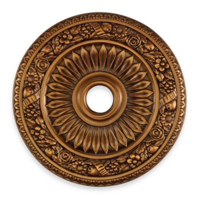 ELK Lighting 24-Inch Floral Wreath Medallion in Antique Bronze