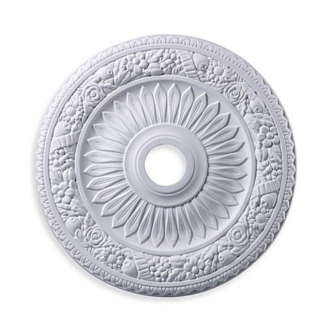 ELK Lighting 24-Inch Floral Wreath Medallion in White