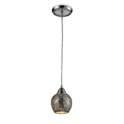 ELK Lighting Fission 1-Light Pendant in Satin Nickel/Silver