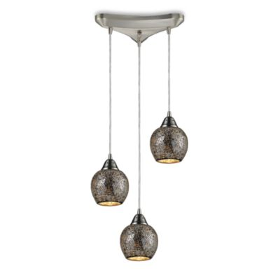 ELK Lighting Fission 3-Light Pendant in in Satin Nickel/Silver