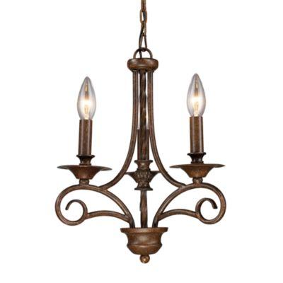 ELK Lighting Gloucester 3-Light Chandelier in Antique Bronze