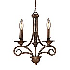 ELK Lighting Gloucester 3-Light Chandelier in Antique Bronze