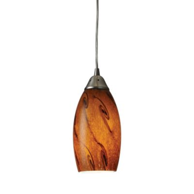 ELK Lighting Galaxy 1-Light Pendant with Brown Shade