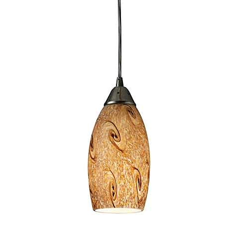 ELK Lighting Galaxy 1-Light Pendant with Misty Lavender Shade