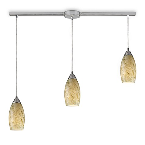 ELK Lighting Galaxy 3-Light Linear Pendant with Creamy Mint Shade