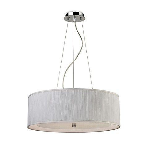 ELK Lighting Le Triumph 5-Light Pendant with White Shade