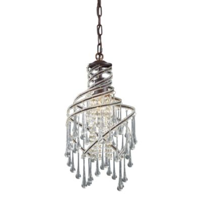 ELK Lighting Elise 1-Light Pendant in Rust