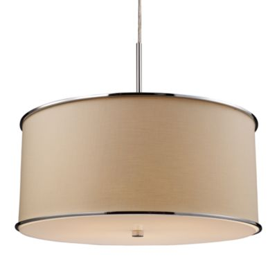 ELK Lighting Fabrique 5-Light Drum Pendant with Textured Beige Shade