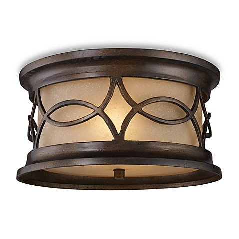 ELK Lighting Burlington Junction 2-Light Outdoor Flush Mount Fixture