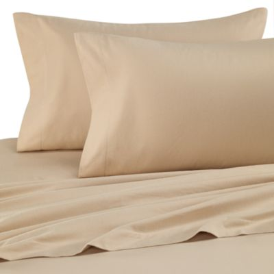 The Seasons Collection® Queen Flannel Sheet Set in Taupe