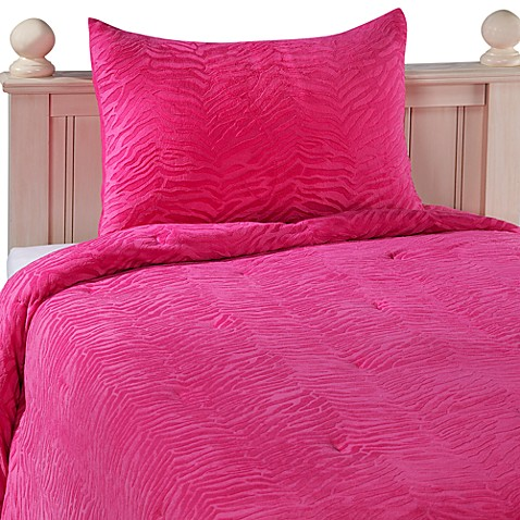 Embossed Zebra Comforter Set
