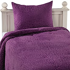 Embossed Cheetah Comforter Set