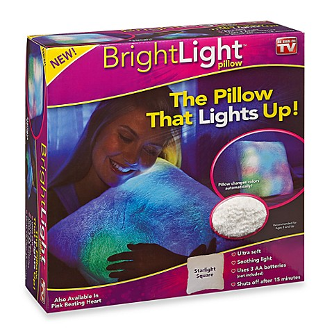 Bright Light Pillow White Square