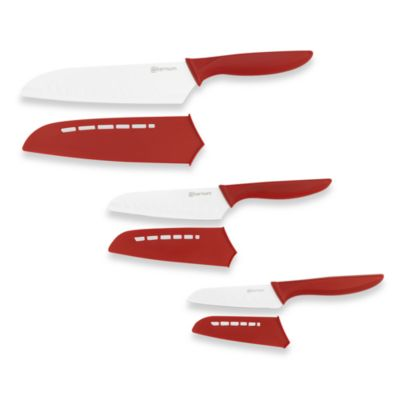 Bialetti® Aeternum Santoku 3-Piece Knife Set with Safety Sheath