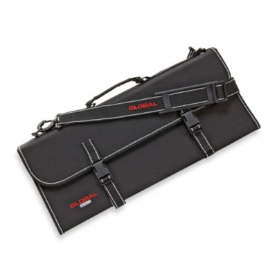 Global 21-Pocket Knife Case with Removable Shoulder Strap and Handle