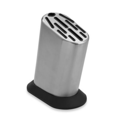Global 11-Slot Stainless Steel Knife Block with Dot Pattern