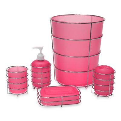 Wire Ware Lotion Dispenser in Pink