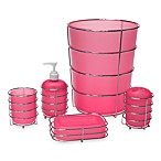 Wire Ware Waste Basket in Pink