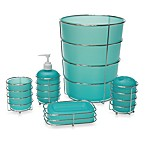 Wire Ware Bath Ensemble - Aqua