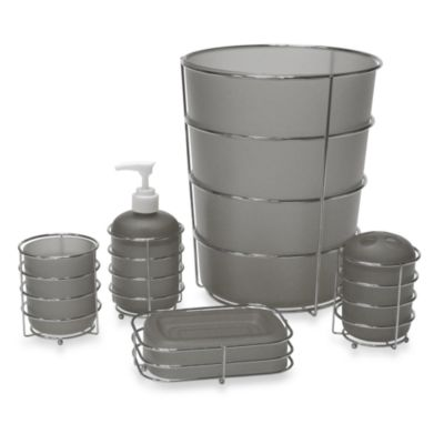 Wire Ware Waste Basket in Grey