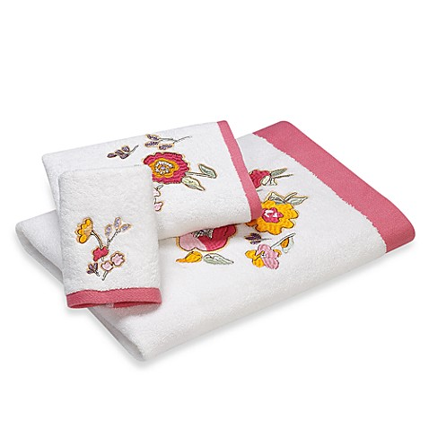 Lenox Floral Fusion Embroidered Bath Towel In 27 Inch X 50 Inch Bed Bath Beyond