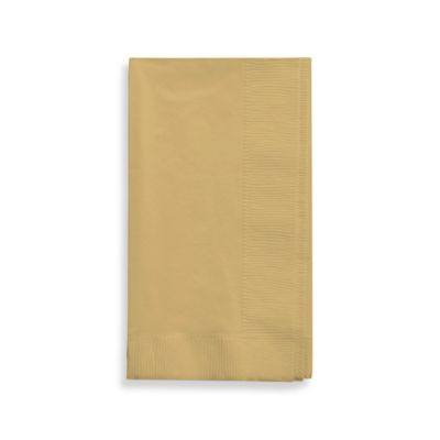 2-Ply Glittering Gold Guest Towels