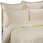 Raymond Waites Soft Scroll European Pillow Sham in Ivory
