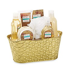 Waverly Tin Bucket Bath Set in French Vanilla