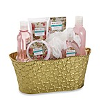 Waverly Tin Bucket Bath Set in Royal Bouquet