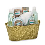 Waverly Tin Bucket Bath Set in Cotton Blossom