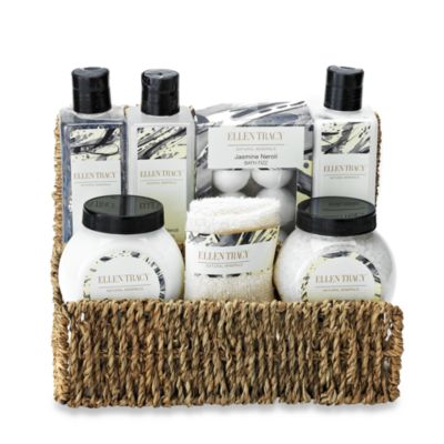 Natural Minerals Wicker Organizer Bath Set