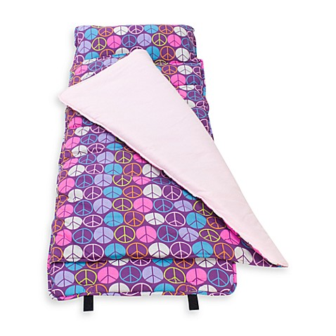 Wildkin Original Nap Mat (Peace Signs Purple)