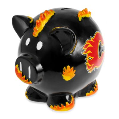 Calgary Flames Resin Piggy Bank
