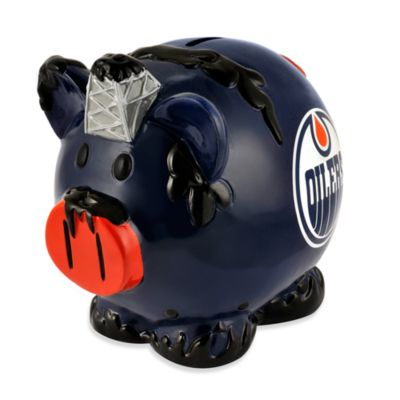 Edmonton Oilers Resin Piggy Bank