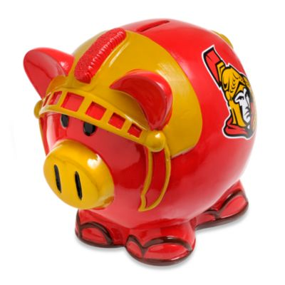 NHL Ottawa Senators Resin Piggy Bank