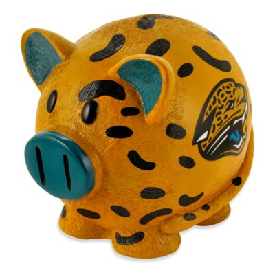 NFL Jacksonville Jaguars Resin Piggy Bank