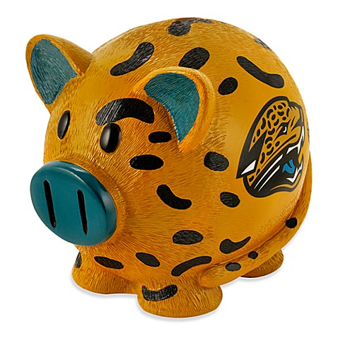 Buy nfl jacksonville jaguars resin piggy bank from bed bath beyond - Resin piggy banks ...